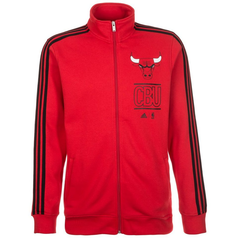 adidas Performance Chicago Bulls Basics Trainingsjacke Herren in rot / schwarz