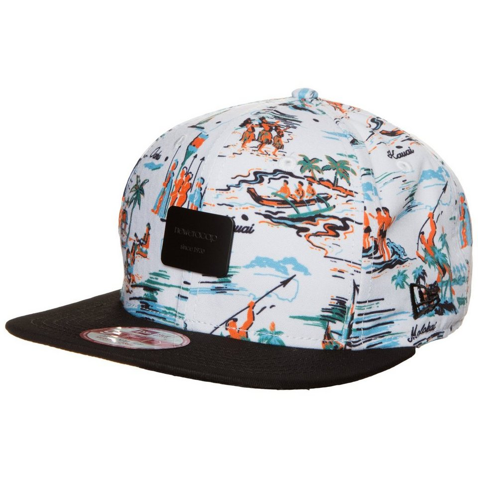 New Era 9FIFTY Offshore Crown Patch Snapback Cap in bunt / schwarz