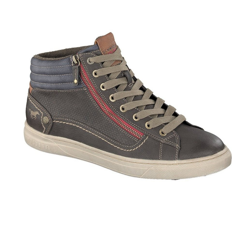 MUSTANG SHOES High Top Sneaker in mokka