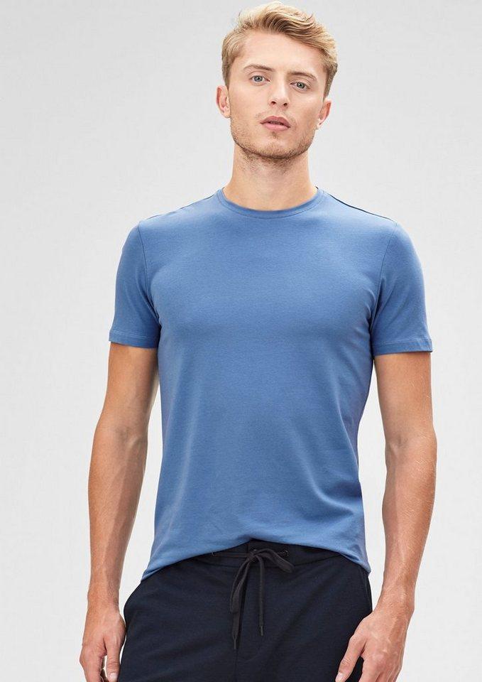 s.Oliver BLACK LABEL T-Shirt aus Baumwollstretch in retro blue