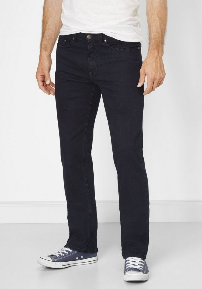 PADDOCK'S Stretch Jeans Saddle Stitch »RANGER« in dark blue rinse