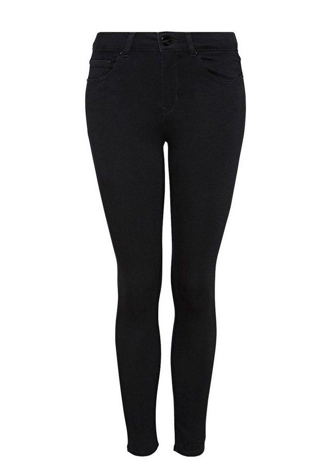 HALLHUBER Basic Skinny Jeans in black denim
