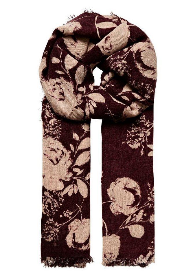 HALLHUBER Schal mit Bicolor-Blütendruck in multicolor