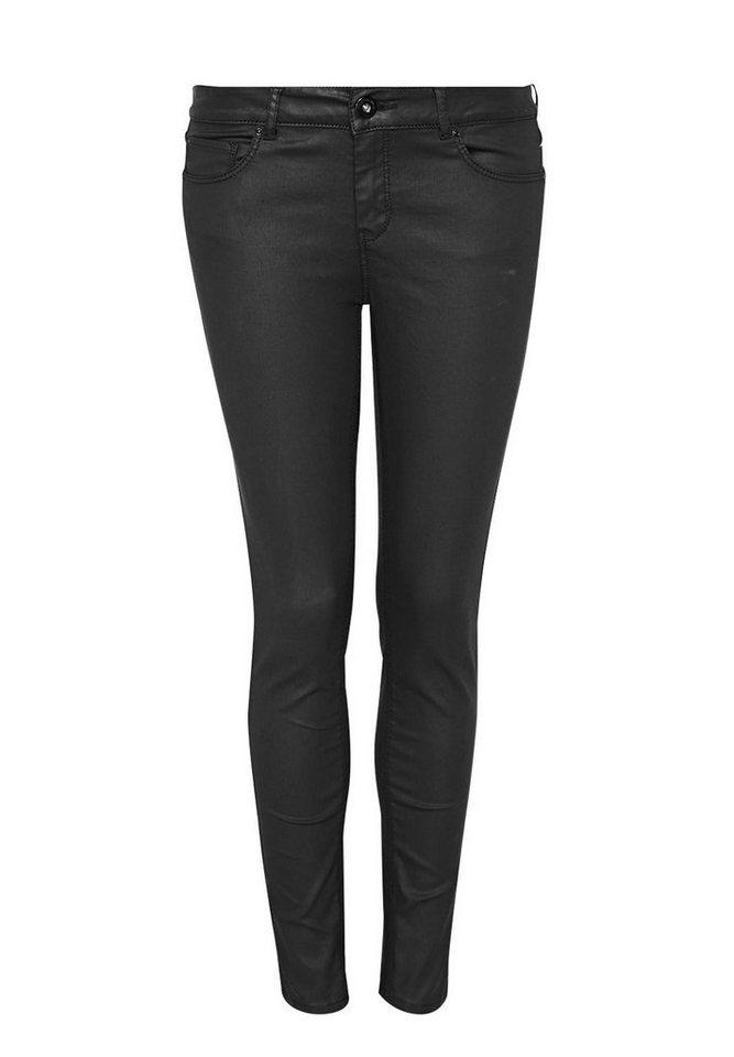 HALLHUBER Coated Skinny Jeans in black denim