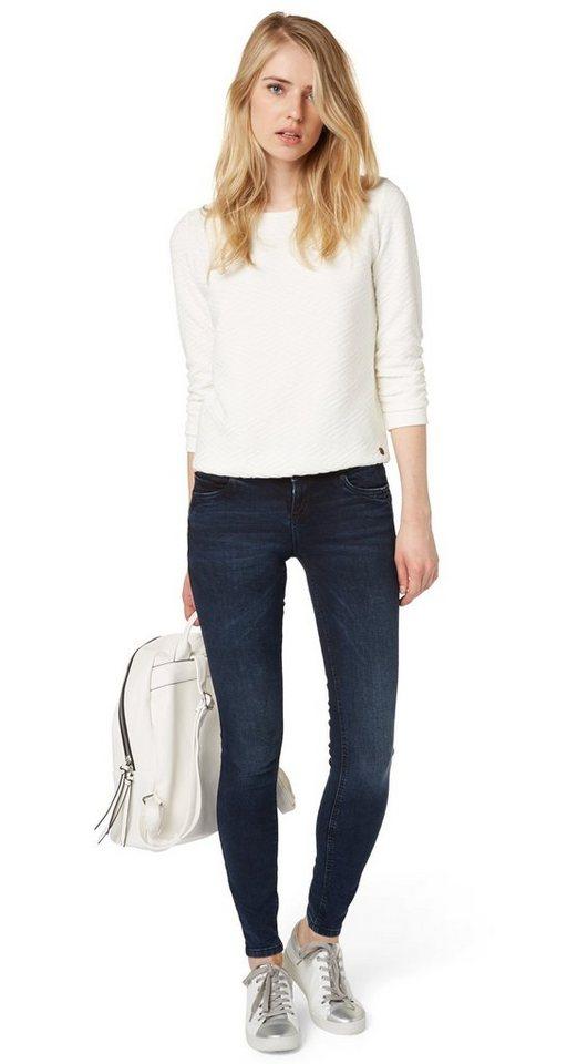 TOM TAILOR DENIM Jeans »angesagte Jona Denim mit Stretch« in blackblue denim