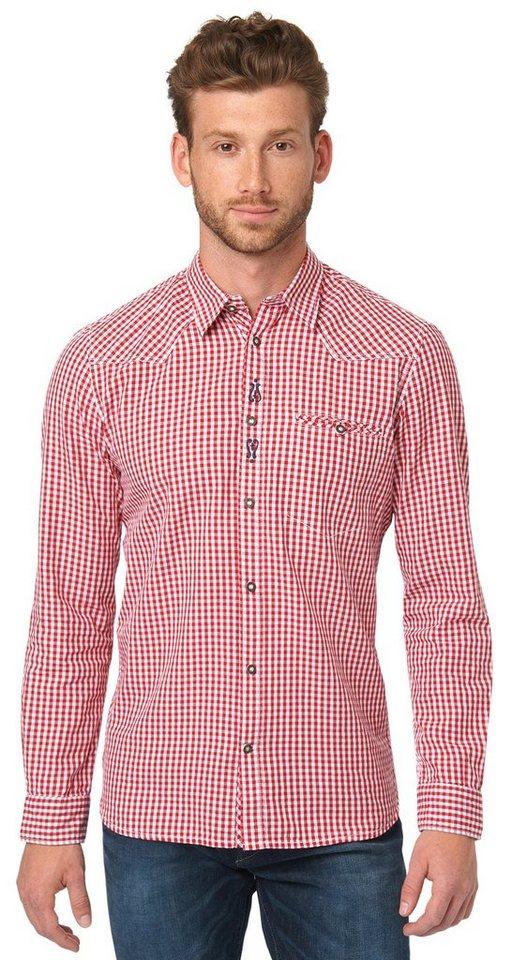 TOM TAILOR Hemd »kariertes Hemd für die Wiesn« in Scooter red