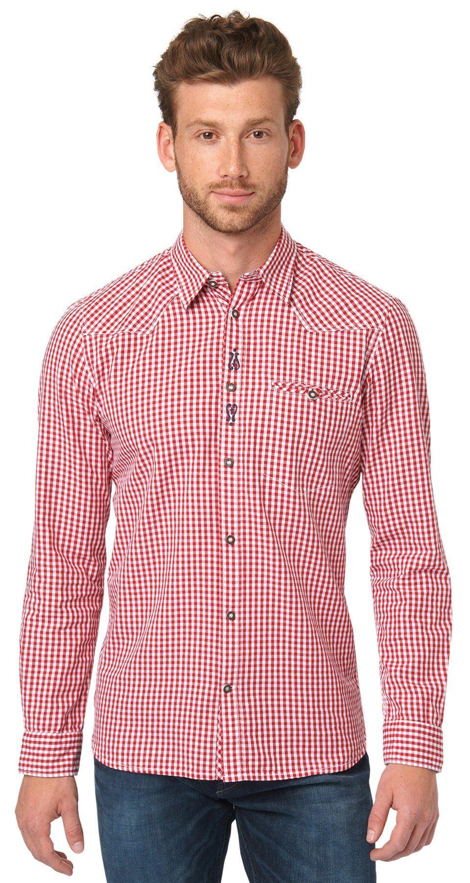 TOM TAILOR Hemd »kariertes Hemd für die Wiesn«