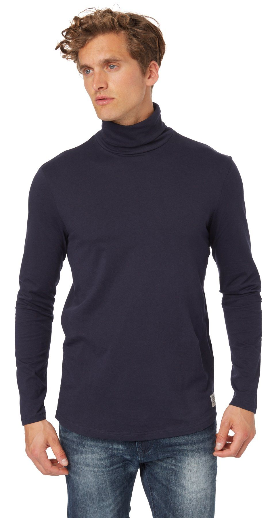 TOM TAILOR DENIM T-Shirt »Jersey-Shirt mit Rollkragen«