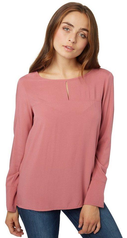TOM TAILOR Bluse »feminines Blusenshirt« in berry mauve