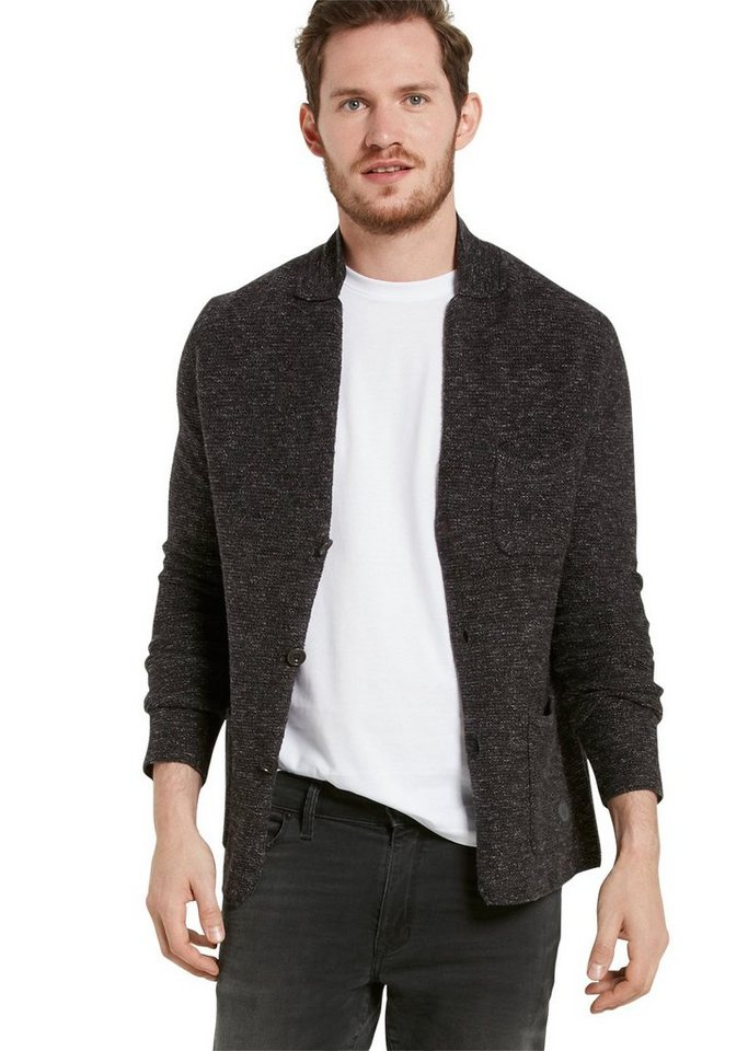 Marc O'Polo Cardigan in 989 dark grey melange