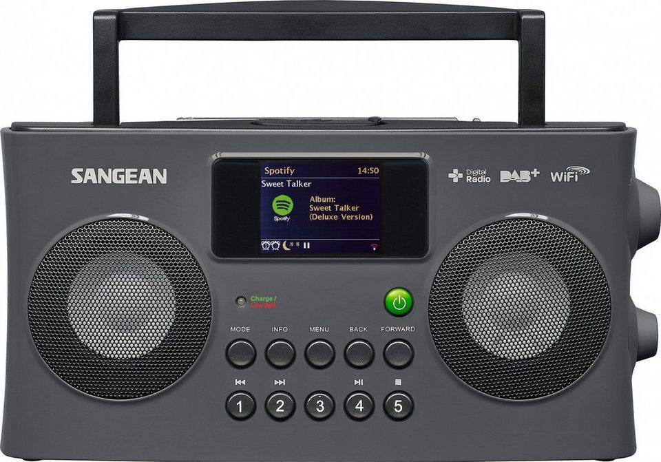 Sangean Internetradio (DAB+/UKW, WLAN, Spotify, MP3, USB, AUX-In) »WFR-29C« in Grau