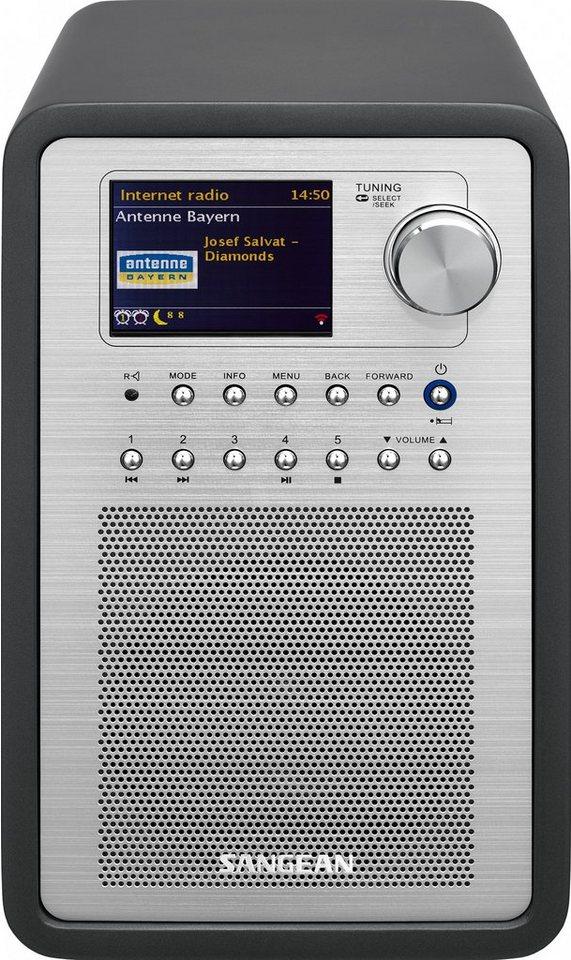 Sangean Internetradio (DAB+/UKW, WLAN, Spotify, MP3, USB, AUX-In) »WFR-70« in Grau
