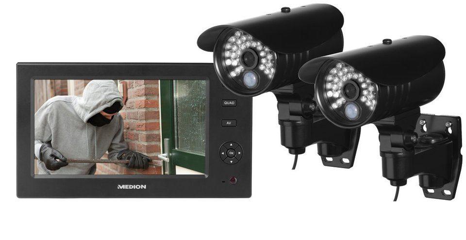 MEDION® Heimüberwachungs-Set P85029 »LCD Monitor mit SD Slot, IP Adapter«