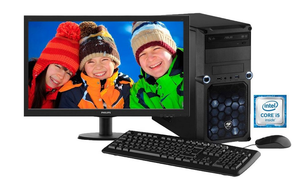 Hyrican Gaming PC Intel® i5-6400, Windows 10 + Monitor »Cyber Gamer SET01069«