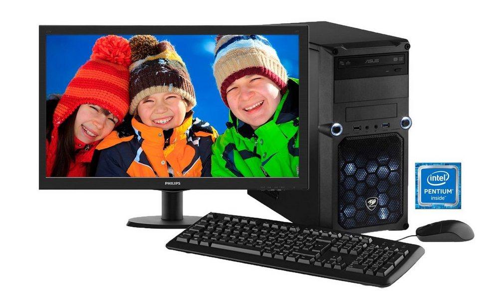 Hyrican PC Set Intel® Pentium® G4400, Windows 10 + Monitor »Cyber Gamer SET01067« in grau
