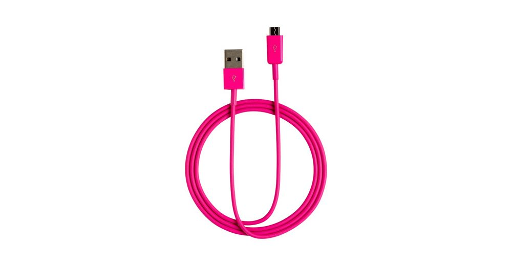 connect IT Kabel »IT Colour Line Micro USB to USB 1m Pink«