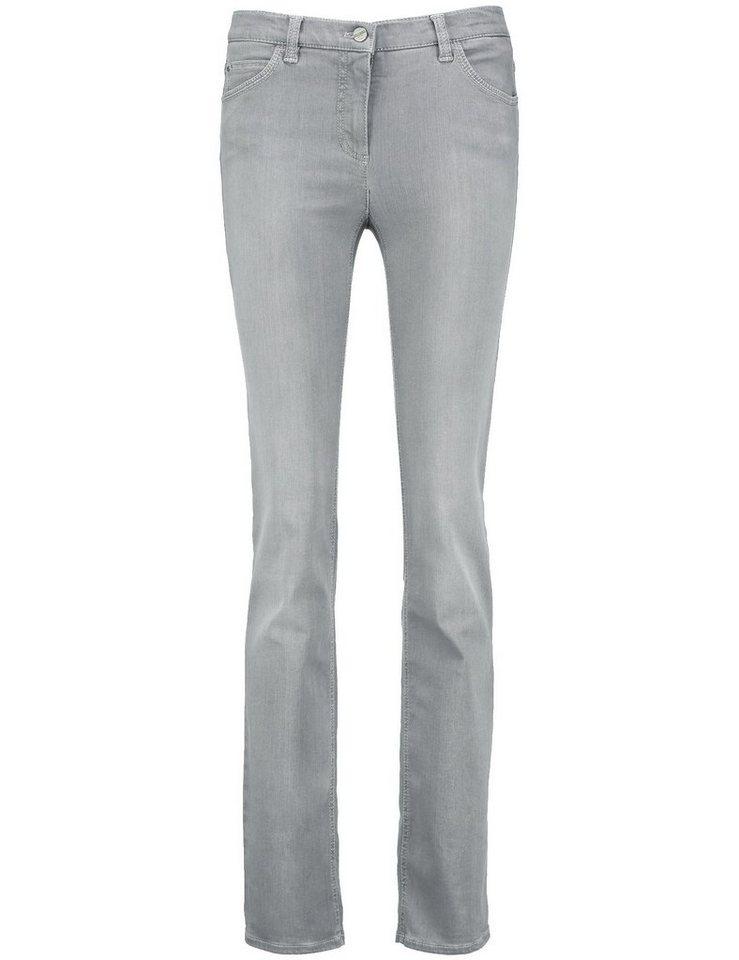 Gerry Weber Hose Jeans Sonderpassform »5-Pocket Hose Irina short Kurzgröße« in Grau