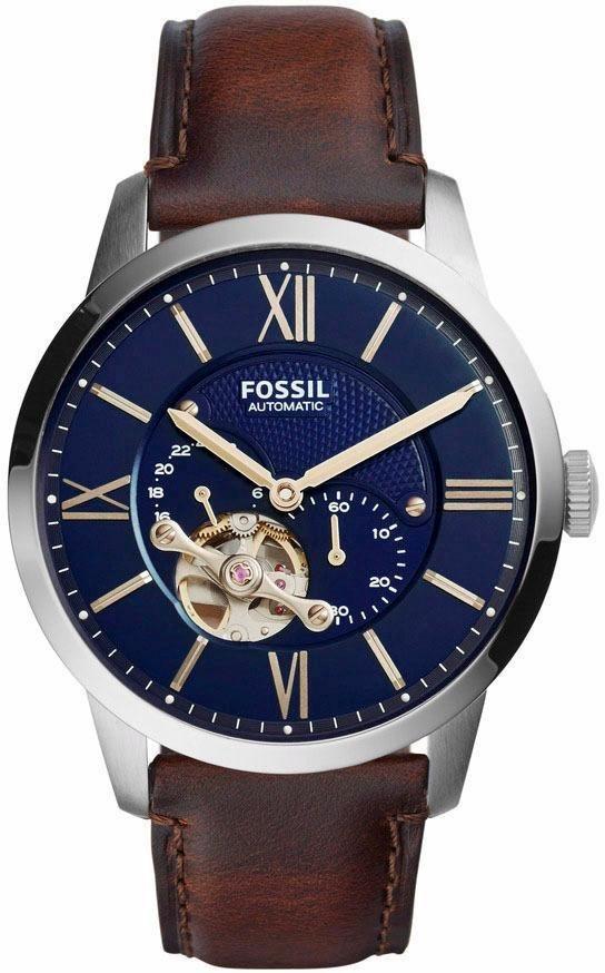 Fossil Automatikuhr »TOWNSMAN, ME3110« | Uhren > Automatikuhren | Braun | Fossil