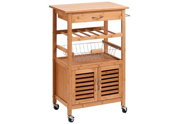 Küchenrollwagen »Bamboo«, 60x36x88 cm