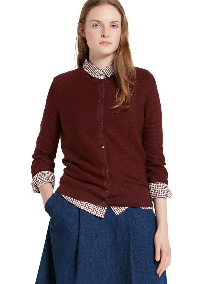 Marc O'Polo Cardigan in 372 dark fall leaf