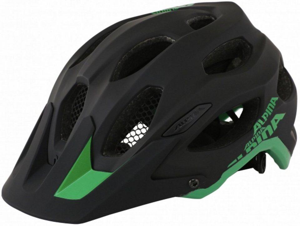 Alpina Fahrradhelm »Carapax Helm black-green« in schwarz