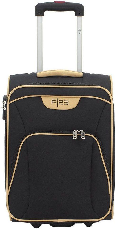 F23™ Weichgepäcktrolley mit 2 Rollen, »Barcelona« in schwarz/beige
