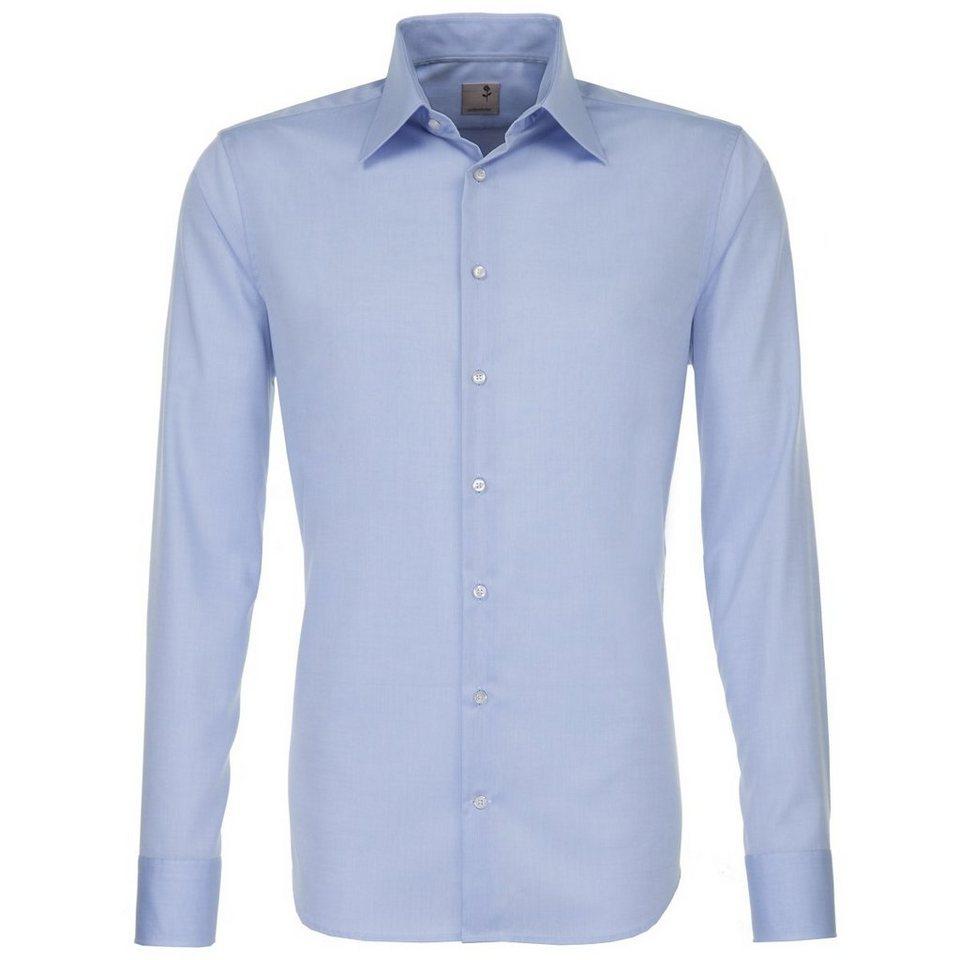 Seidensticker Businesshemd »Schwarze Rose« in hellblau-blau