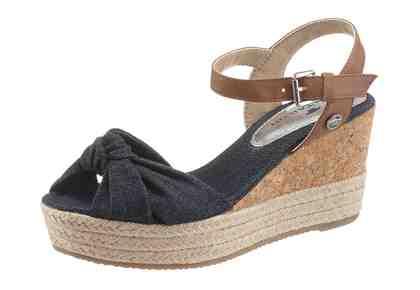 Tom Tailor Sandalette, im Denim-Look