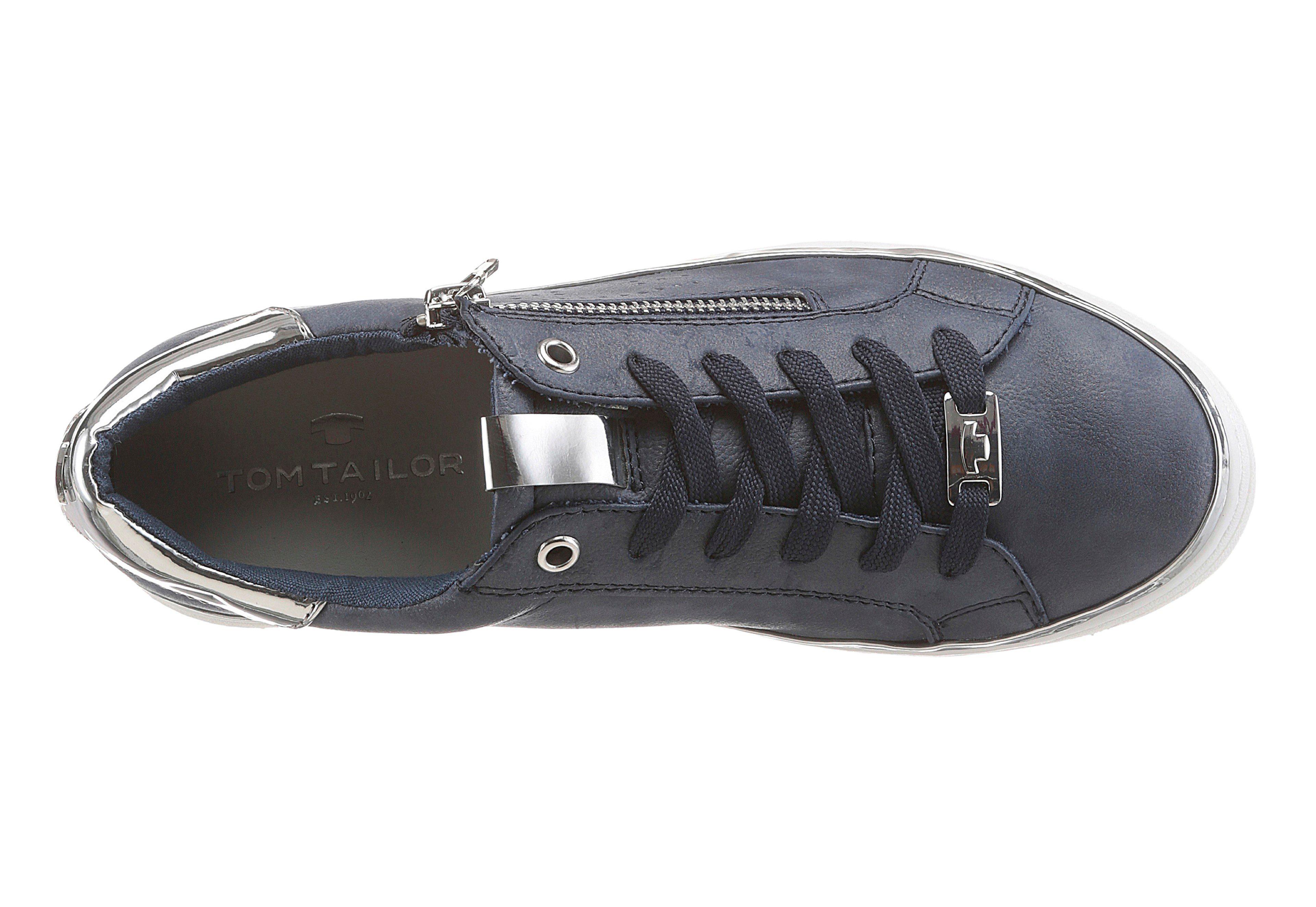 Billig >5402 trendigem Tom Tailor Sneaker mit trendigem >5402 Metallicapplikationen 83c702