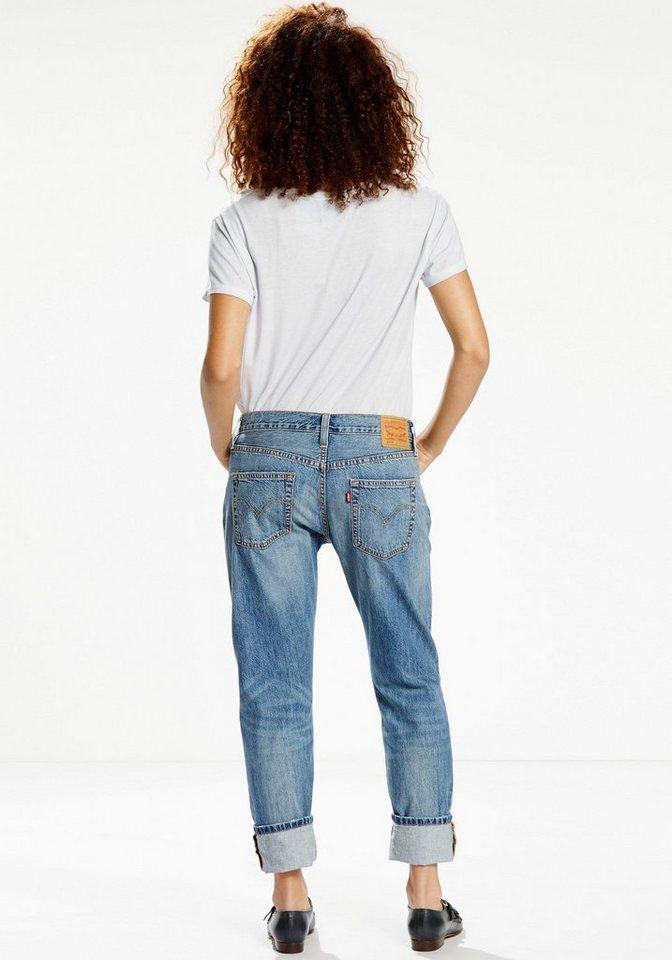 Levi's® Boyfriend-Jeans »501 Jeans« Mit Stickerei in light-blue