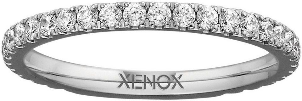 XENOX Fingerring »X2299« mit Zirkonia in silberfarben