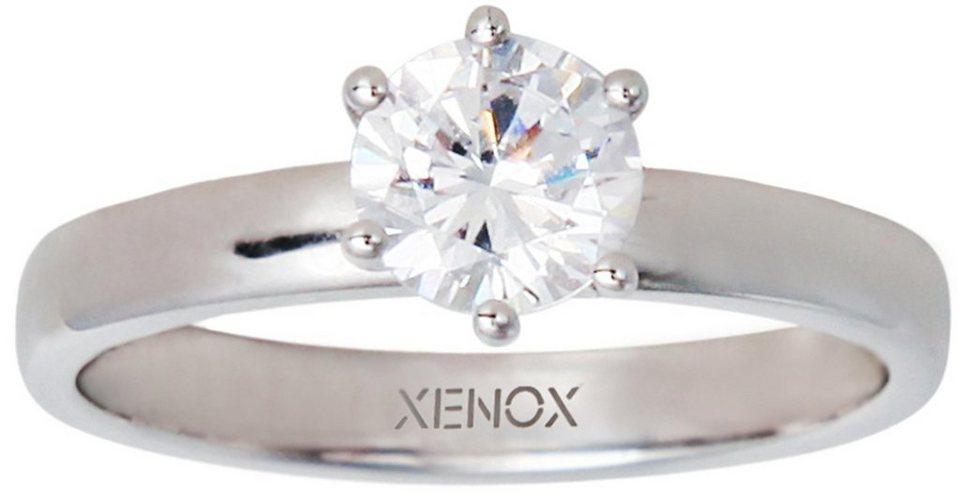 XENOX Silberring »Silver Circle, XS7356« mit Zirkonia in Silber 925