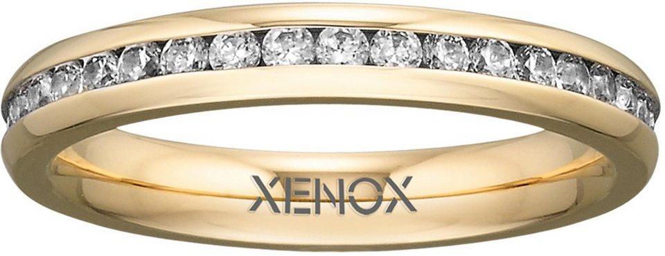 XENOX Fingerring »X2303« mit Zirkonia in goldfarben