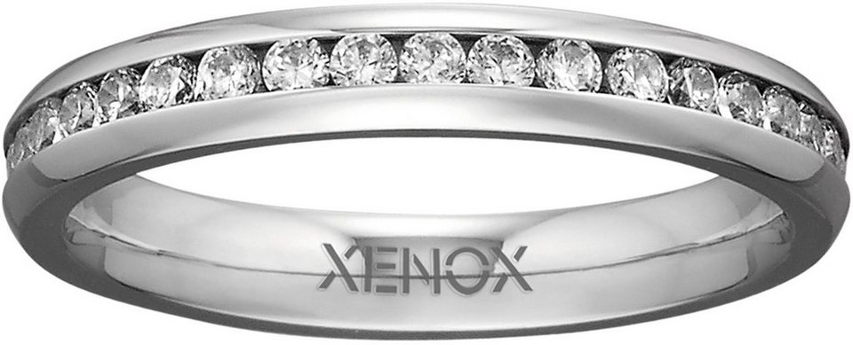 XENOX Fingerring »X2301« mit Zirkonia in silberfarben