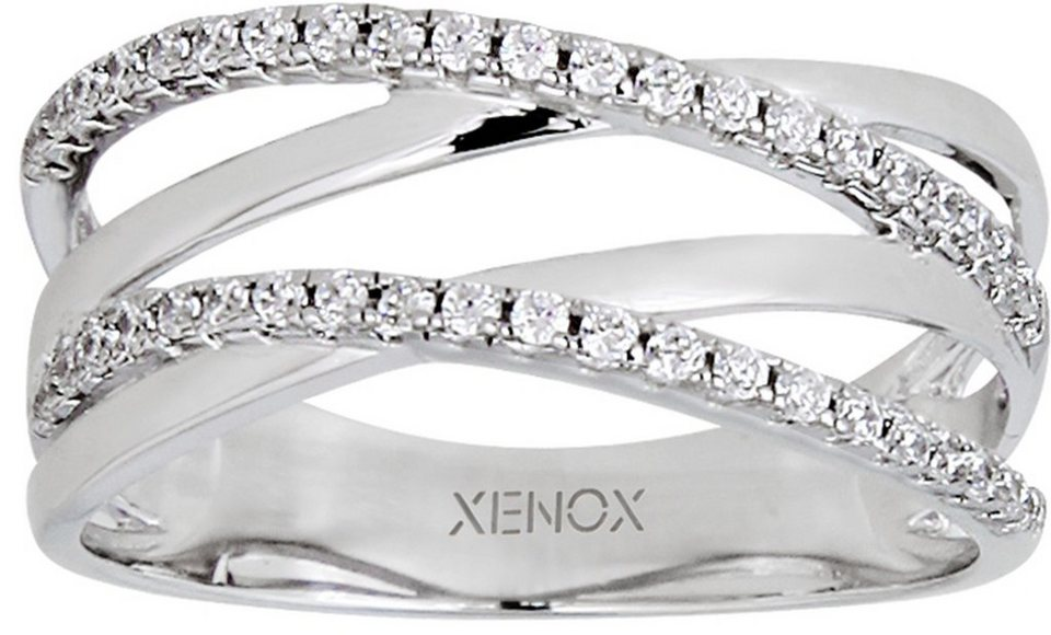 XENOX Silberring »Ladies Day, XS1285« mit Zirkonia in Silber 925