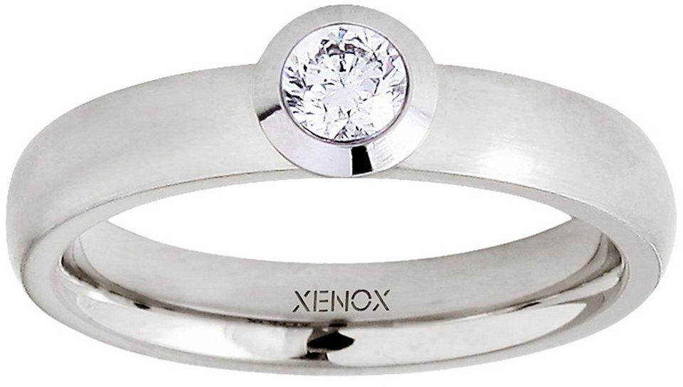 XENOX Fingerring »X2352« mit Zirkonia in silberfarben