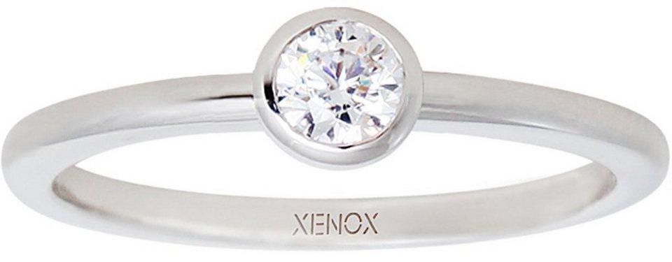 XENOX Silberring »Silver Circle, XS7279« mit Zirkonia in Silber 925