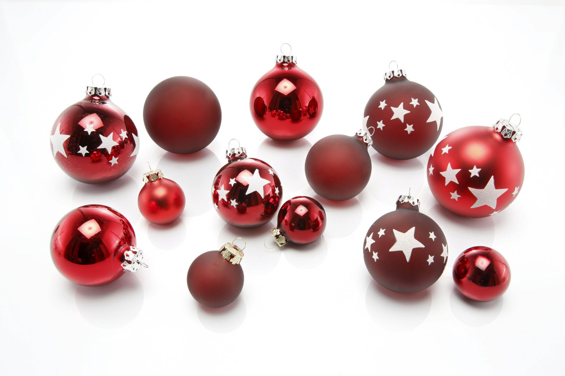 Thüringer Glasdesign TGS-Weihnachtskugeln, Made in Germany, »Advent« (30tlg.)