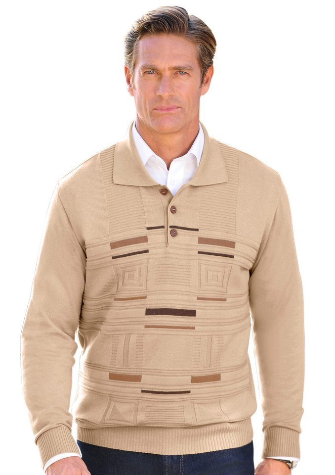 J.Witt collection Pullover mit Strickkragen in beige