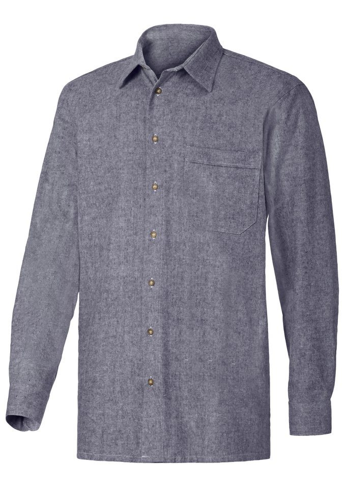 Condor Hemd bügelfrei in blau