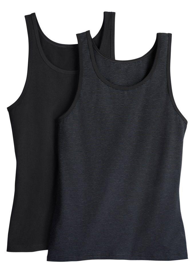 Unterhemd in schwarz + schwarz-geringelt