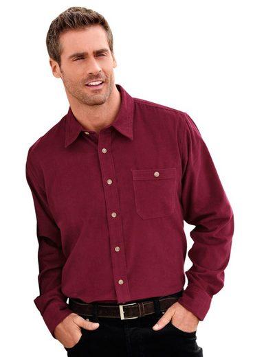 Marco Donati Langarm-Hemd in Feincord-Qualität
