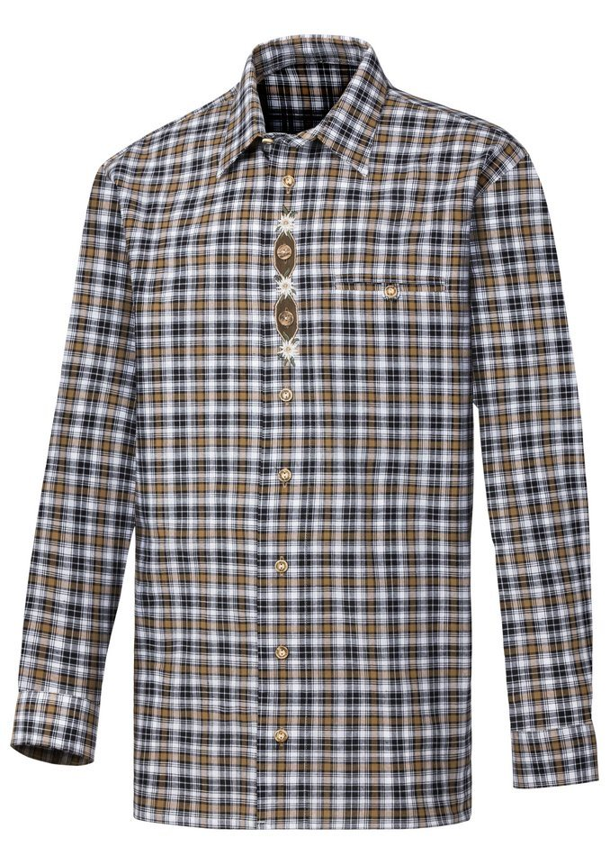Classic Hemd im Karo-Muster in beige-kariert