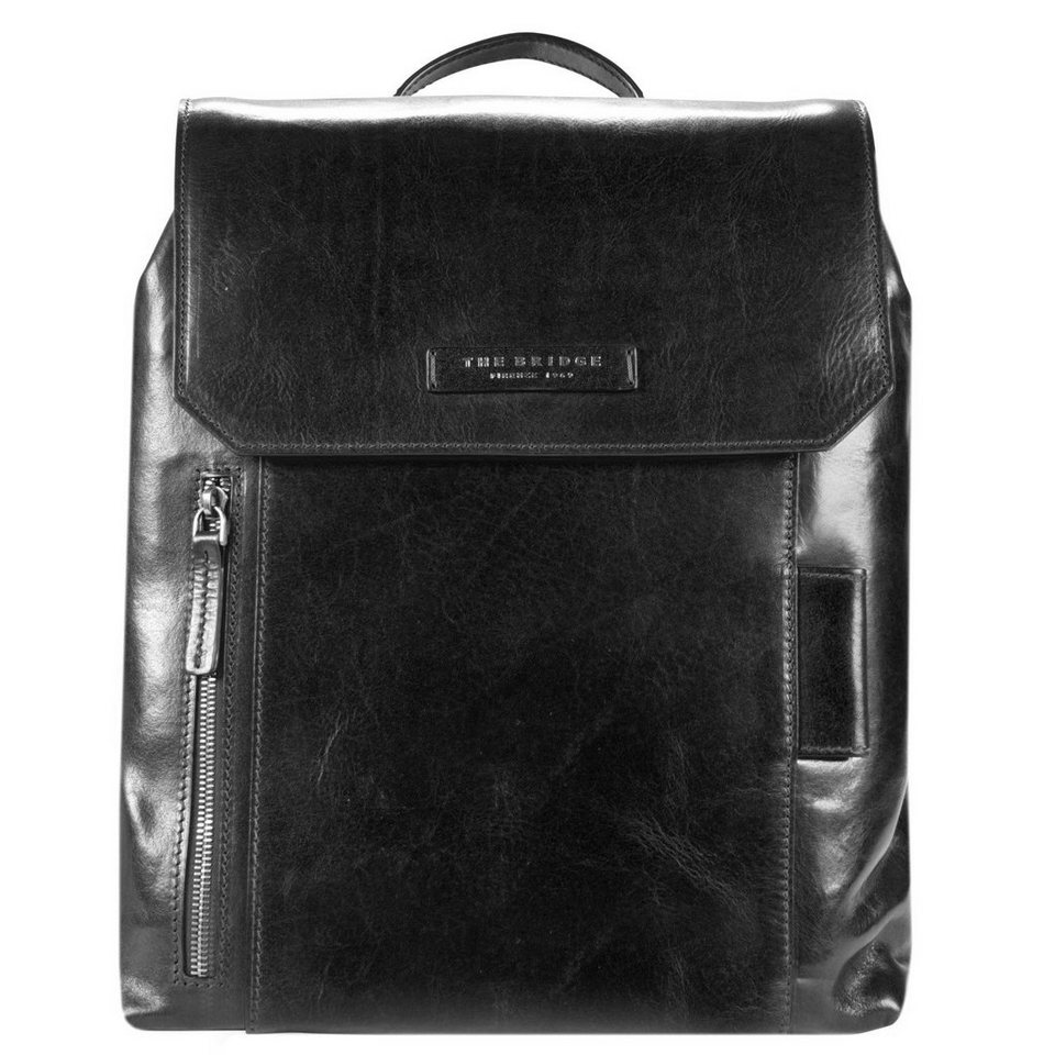 The Bridge Passpartout Rucksack Leder 37 cm in nero