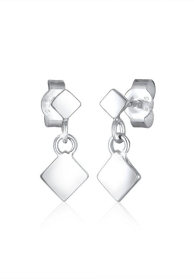 Elli Ohrringe »Viereck Geo Trend Minimal Filigran 925 Silber« in Silber