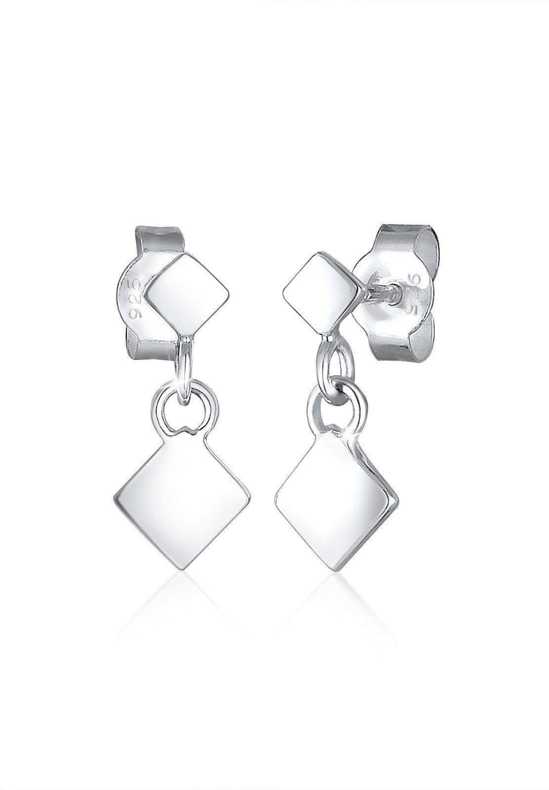 Elli Ohrringe »Viereck Geo Trend Minimal Filigran 925 Silber«