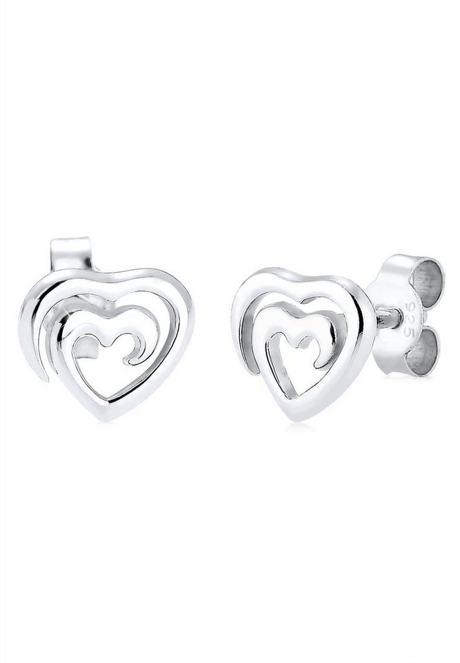 Elli Ohrringe »Herz Liebe 925 Silber« in Silber