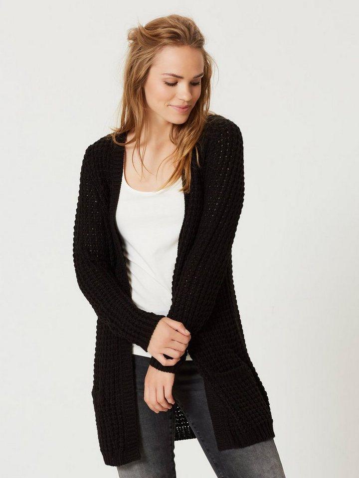 Vero Moda Langärmeliger Strick-Cardigan in Black