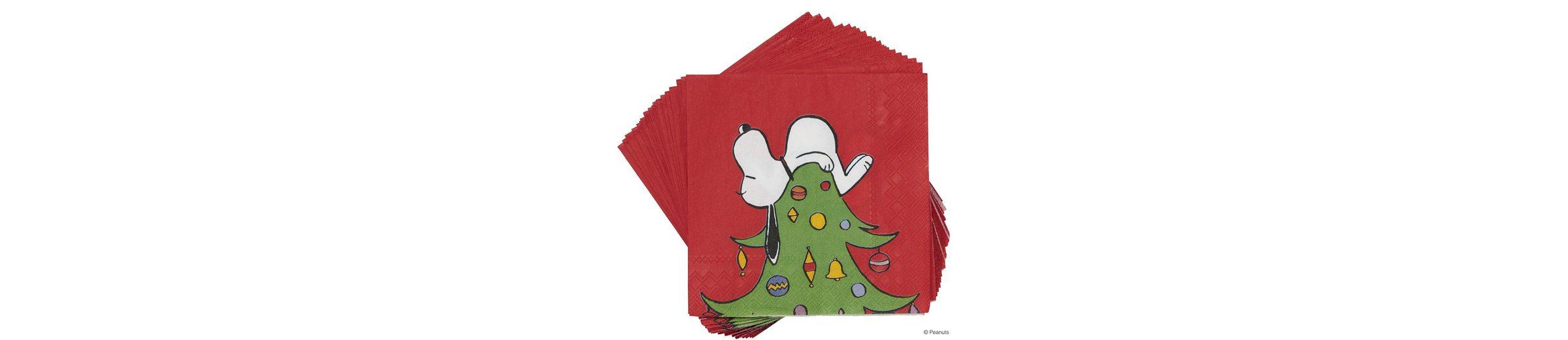 BUTLERS PEANUTS »Papierserviette Snoopy auf Baum«