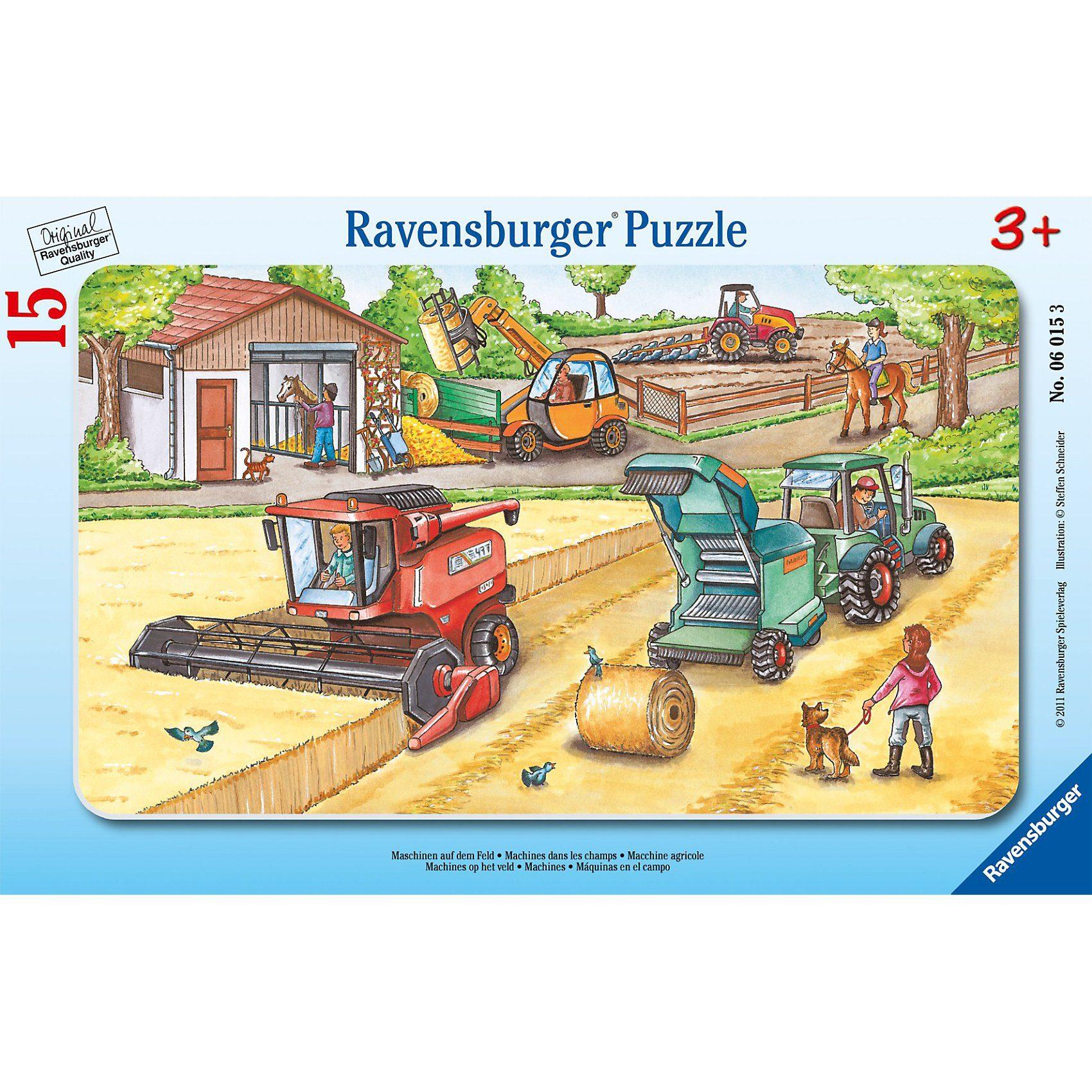 Ravensburger Maschinen auf dem Feld - 15 Teile Rahmenpuzzle
